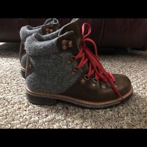 Woolrich for Free People hiking boot